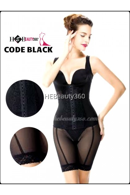 PREMIUM SLIM BODY 2 PCS CORSET  BLACK BY SUNNY FRIENDA (READY STOCK)