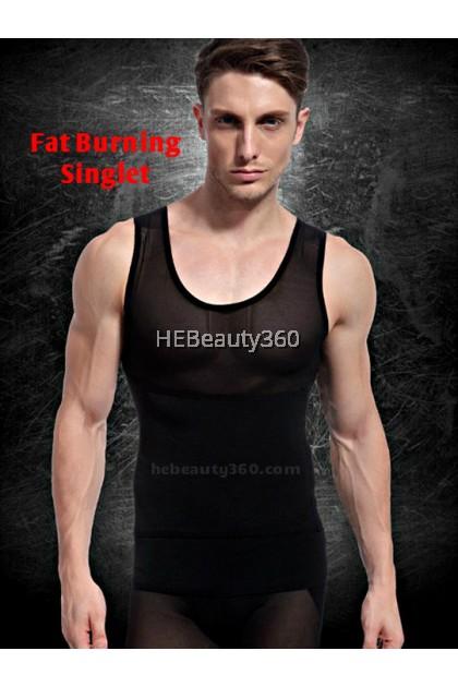 Premium Double Effect Fat Burning  Men Slimming Singlet