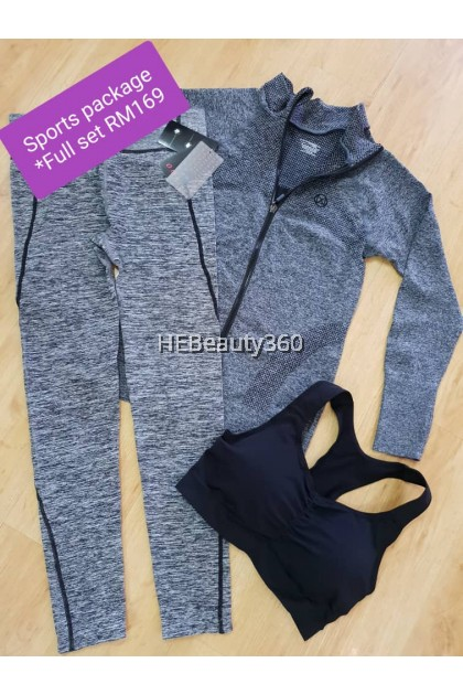 Esempi Di Texture Grey Long Pants with side Strip by Pro-Fit/ Morella (READY STOCK)