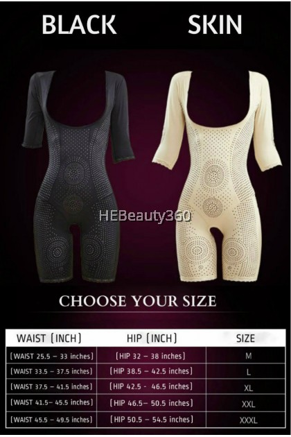 DEMETRIA QUEEN SLEEVE SLIM CORSET (FIR)  (BUY 2 FREE 1 PCS MAEVE SLIM LEGGING) (READY STOCK)