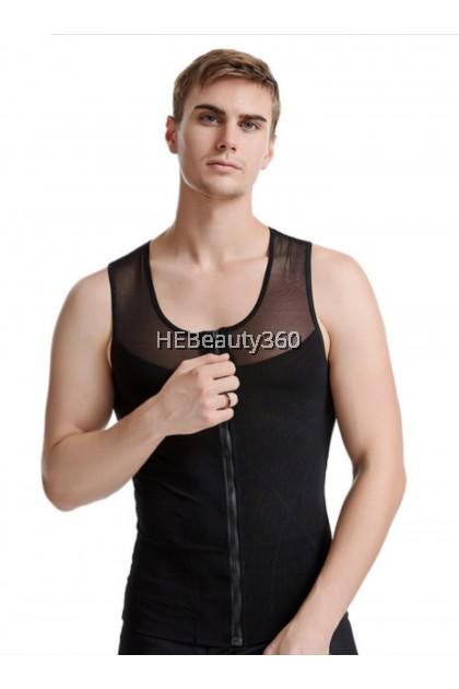 PREMIUM ZIP DESIGN MEN SLIM SINGLET (READY STOCK)
